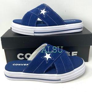 Converse One Star Sandal Sip Navy Suede Women's
